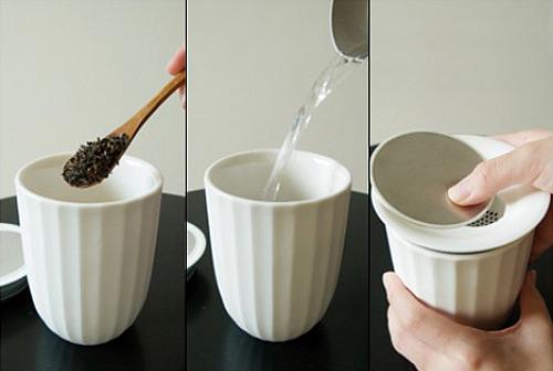 Tasse à thé lotus