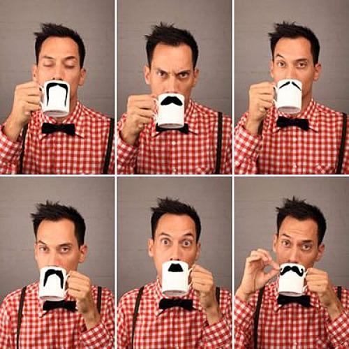 Moustache mug thé
