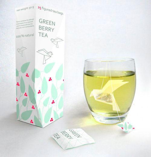 Origami sachet de thé