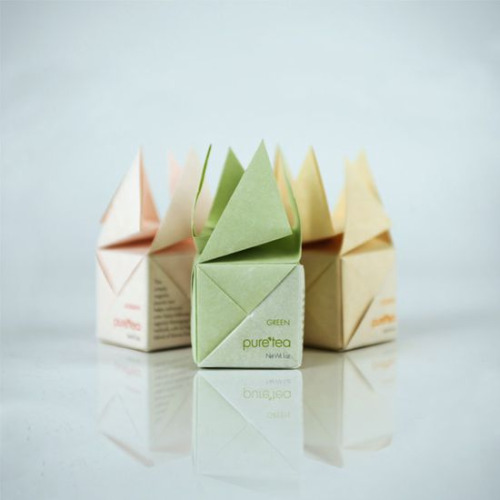 Pure tea origami